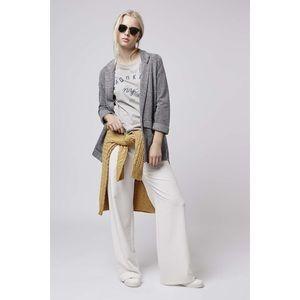 Topshop Gray Herringbone Jacket